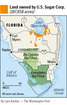 Florida Purchases Sugar Land To Help Restore Everglades WaterWired - Map of us purchases