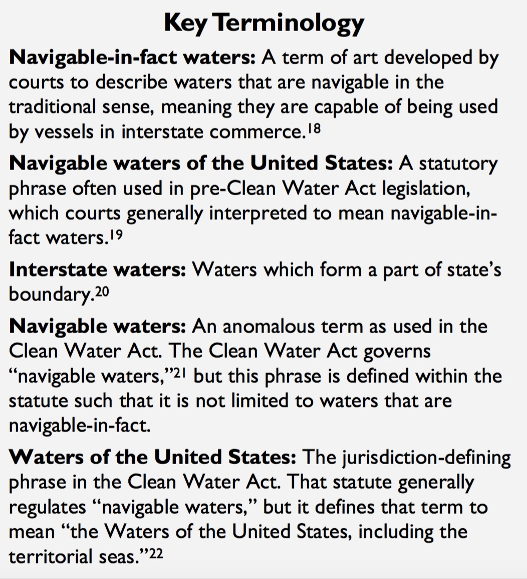 Crs report evolution of the meaning of waters of the united the clean water act uses the phrase waters of the united states but it does not include a statutory definition of that term publicscrutiny Images