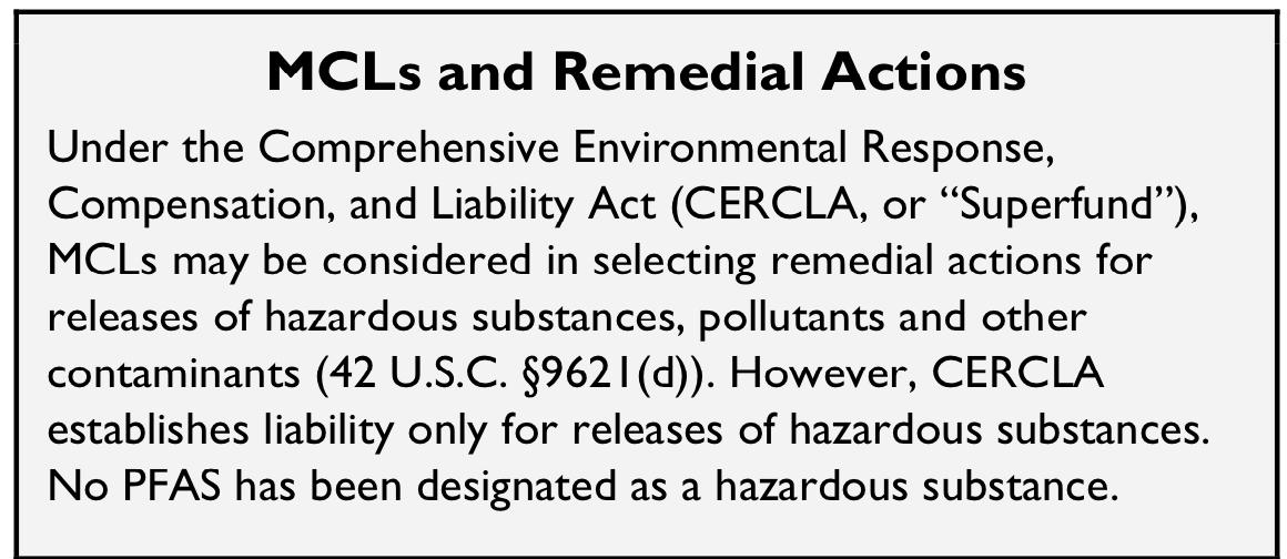 CRS In Focus Report: 'Regulating Drinking Water Contaminants - EPA