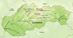 Slovakia-physical-map