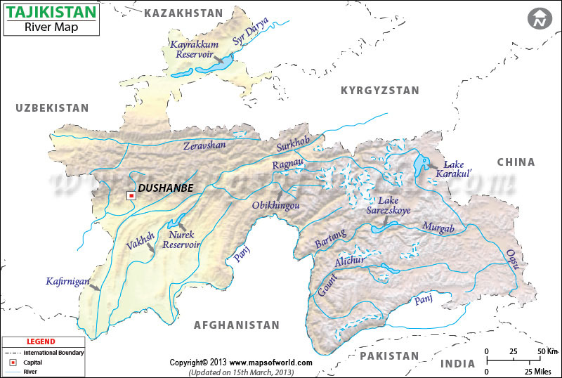 Figure 3.18B tajikistan-river-map
