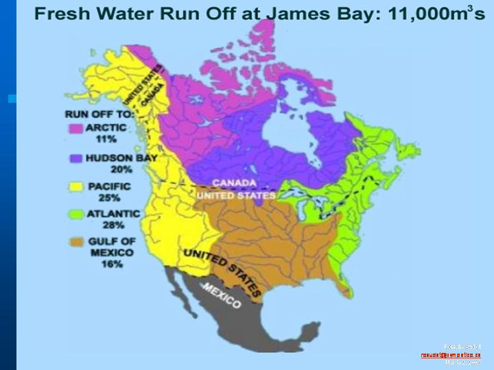 Map Of Canada James Bay.Canada S Nara Project Will Solve Usa Water Problems Waterwired