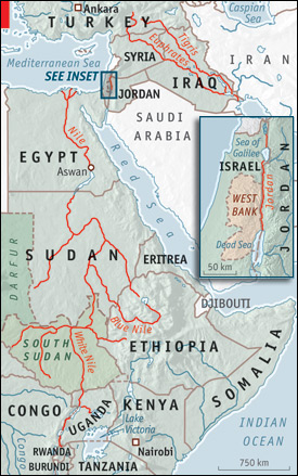 tigris river map. This map shows the Nile,
